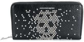 Alexander McQueen Studded Zip Travel wallet