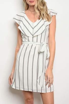 Collective Concepts Striped White Dress