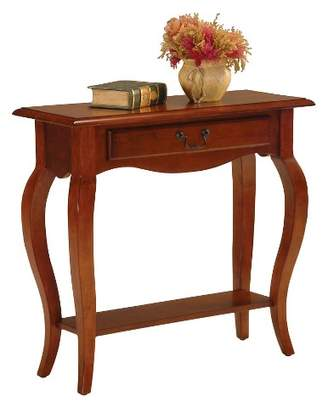 Leick Home Favorite Finds Console Table Brown Cherry Finish