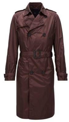 BOSS Hugo 'Dan' Nylon Trench Coat 42R Dark Red