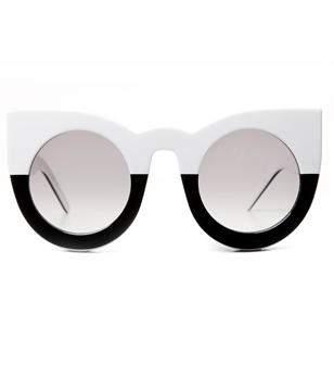 Valley Eyewear Wolves Vintage White To Black Sunglasses