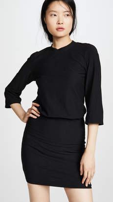 James Perse Drop 3/4 Sleeve Blouson Dress