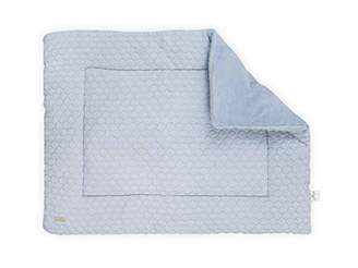 Camilla And Marc Jollein Fancy Knit Playpen Quilt, 80 x 100 cm, Baby Blue