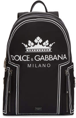 Dolce & Gabbana Black Logo Backpack