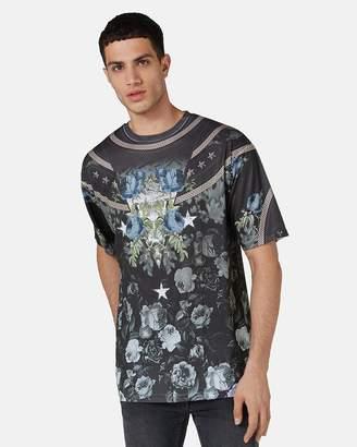 Topman Floral Mesh T-Shirt