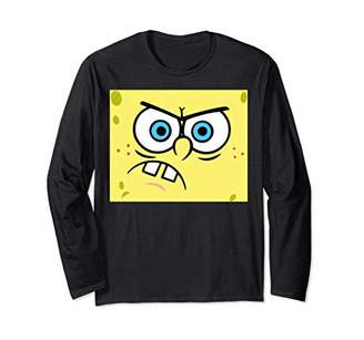 Nickelodeon Spongebob Angry Face Long Sleeve T-Shirt