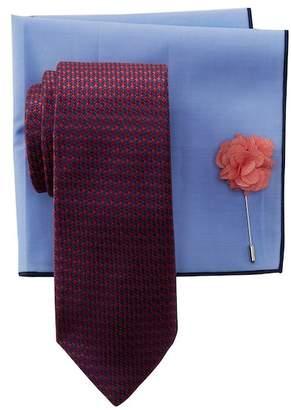 BROLETTO Veraline Mini Silk Tie, Pocket Square, & Lapel Pin Set