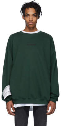 Vetements Green Logo Sweatshirt