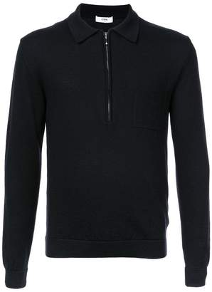 Cmmn Swdn zipped polo shirt