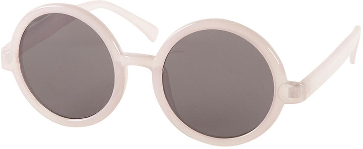 Lilac Round Oversize Sunglasses By Squint Topshop