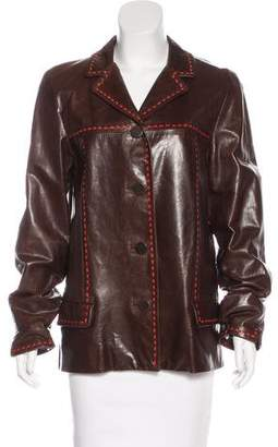 Marc Jacobs Collared Leather Jacket