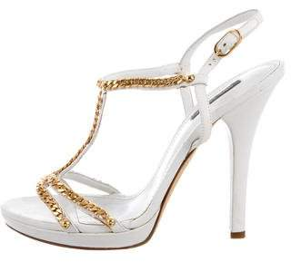 Dolce & Gabbana Leather Chain-Link Sandals