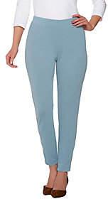 Susan Graver Passport Knit Comfort Waist AnklePants w/Zipper