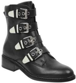 Marc Fisher Diante Leather Buckle Boots