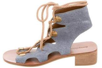 See by Chloe Suede Lace-Up Sandals
