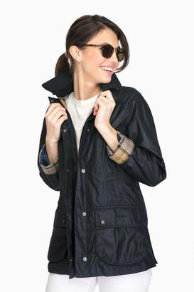 Barbour Barbour® Navy Beadnell Wax Jacket $399 thestylecure.com