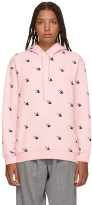 McQ Pink Swallow Hoodie