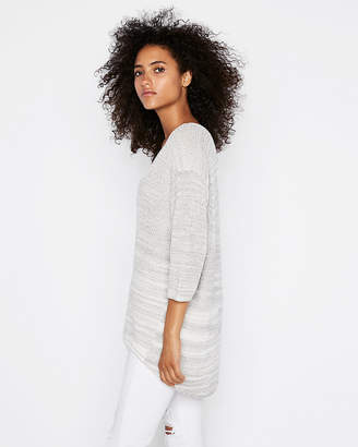 Express Slouchy Double V Tunic Sweater