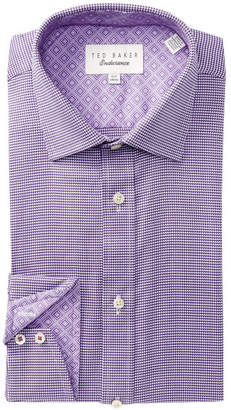 Ted Baker Micro Houndstooth Trim Fit Dress Shirt