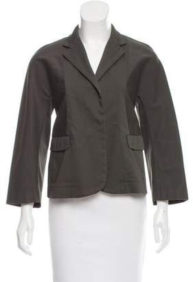 Hache Woven Notch-Collar Jacket