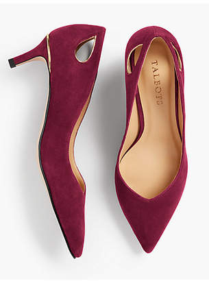 Talbots Erica Cut-Out Pumps - Solid