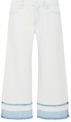 J Brand - Liza Cropped Mid-rise Wide-leg Jeans - Light denim $230 thestylecure.com