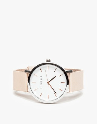 Rose Gold/Natural Band Watch $119 thestylecure.com