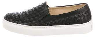 M.Gemi M. Gemi Woven Leather Slip-On Sneakers