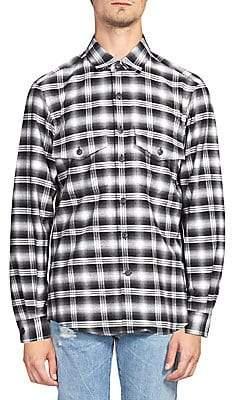 Marcelo Burlon County of Milan Men's Plaid Button-Down Shirt