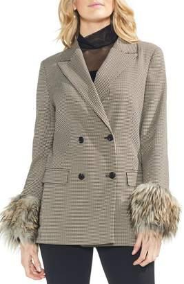 Vince Camuto Faux Fur Cuff Blazer