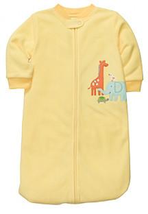 Carter's Baby Yellow Animal Microfleece Sleep Bag