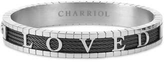 Charriol 4Ever Loved Bangle Bracelet in Pvd Stainless Steel & Gunmetal-Tone