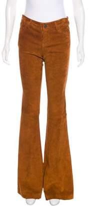 Alice + Olivia Mid-Rise Leather Pants w/ Tags