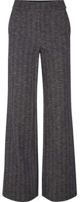 Theory Talbert Herringbone Wool-blend Straight-leg Pants - Navy