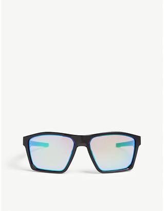 Oakley Mens Black Targetline Square-Frame Sunglasses