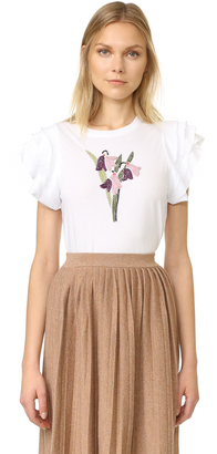 RED Valentino Embroidered Flower Tee $250 thestylecure.com