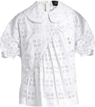 Simone Rocha Broderie-anglaise Peter Pan-collar blouse