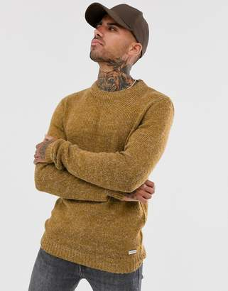 Brave Soul textured marl knitted jumper