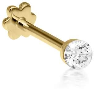 Maria Tash 2.5mm Invisible Diamond Single Thread Through Earring - Yellow Gold