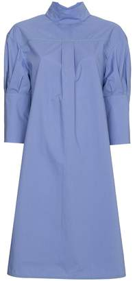 Marni short sleeved poplin shirt dress
