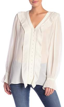 Frame Feminine Pleated Blouse