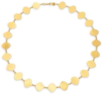 Gurhan Women's 24K Yellow Gold Hammered Leaf Necklace