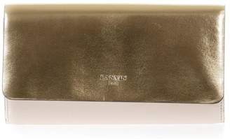 Lanvin Gold & Rose Metallic Leather Clutch