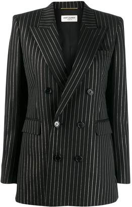 Saint Laurent striped double breasted blazer