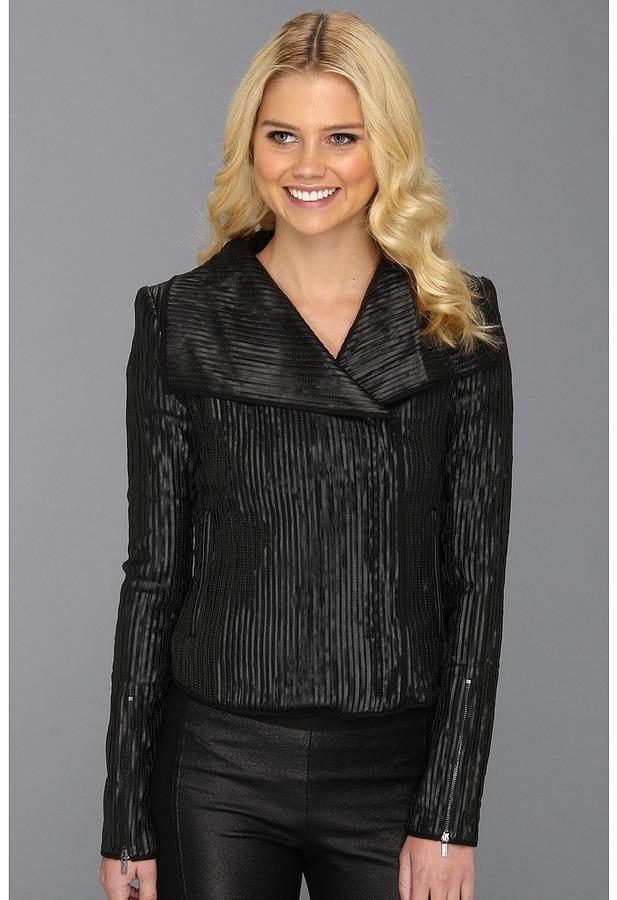 BCBGMAXAZRIA Sully Faux Leather Jacket (Black) - Apparel