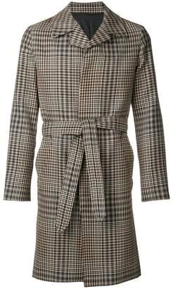 Ami Alexandre Mattiussi tie-waist front button coat