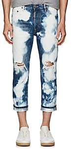 DSQUARED2 Men's Bleached Distressed Crop Jeans - Blue Size 48 Eu