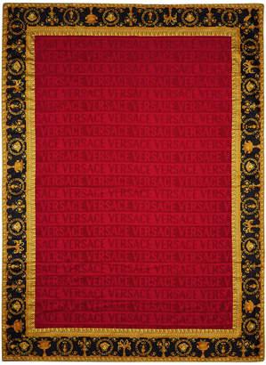 Versace Barocco & Robe Beach Towel - Red
