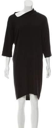 Balenciaga Wool Long Sleeve Dress