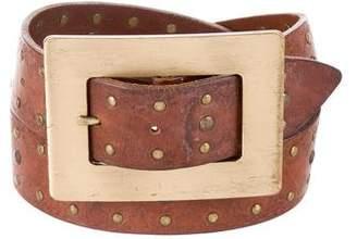 Dolce & Gabbana Studded Leather Belt